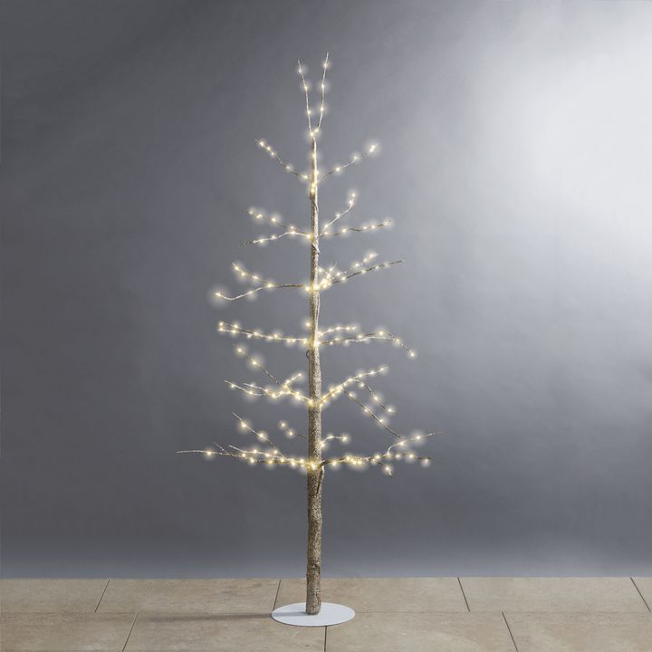 Glittering LED-Wrapped Wintry Tree, 48""