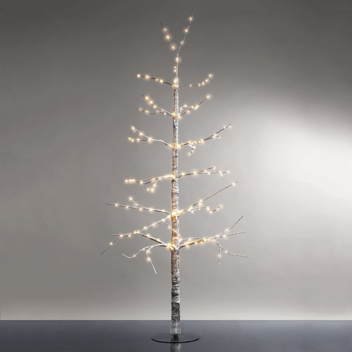 Frosted LED-Wrapped Wintry Tree, 48""