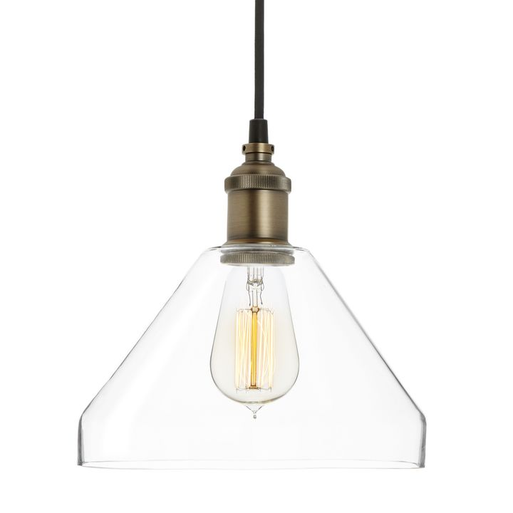 tapered glass pendant bronze - Glass Pendant Lighting