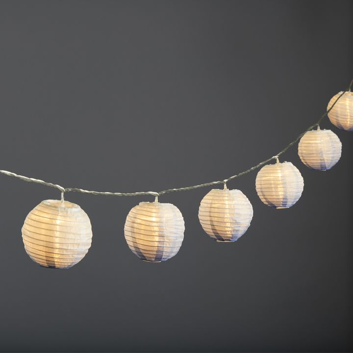 "Ara Midnight Ombre 3"" Lantern String Lights, Strand of 10"