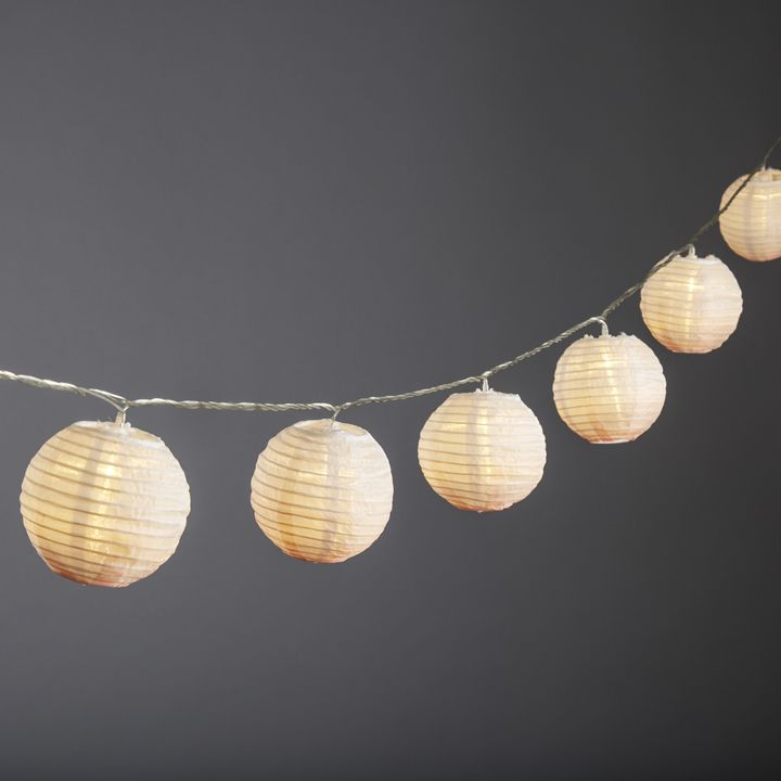 "Ara Blush Ombre 3"" Lantern String Lights, Strand of 10"