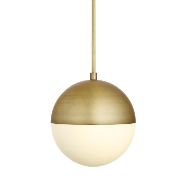 Pendant lighting modern affordable home lighting lights powell led 10 aged brass globe pendant aloadofball