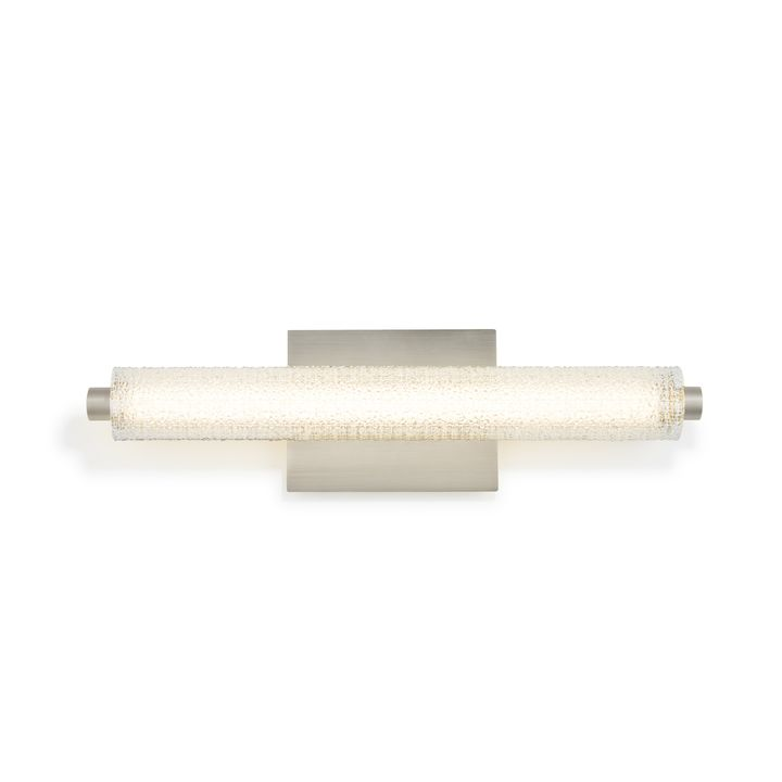 "Ronan 20"" Textured Glass LED Vanity Light, Satin Nickel"