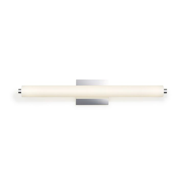"Ronan 32"" Linen Glass LED Vanity Light, Chrome"