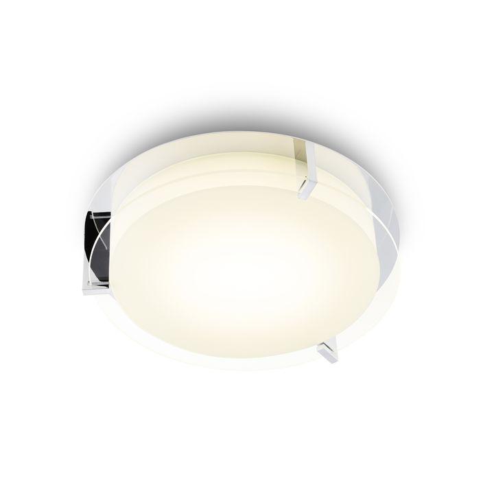 "Atlas 12"" Round LED Flush Mount, Chrome"