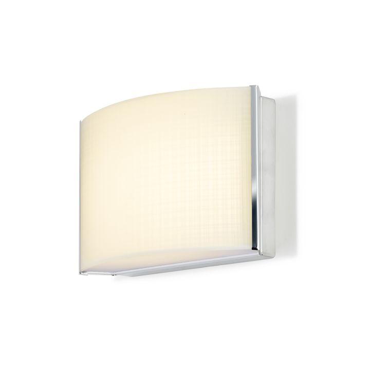 Sloane Linen Glass LED Sconce, Chrome
