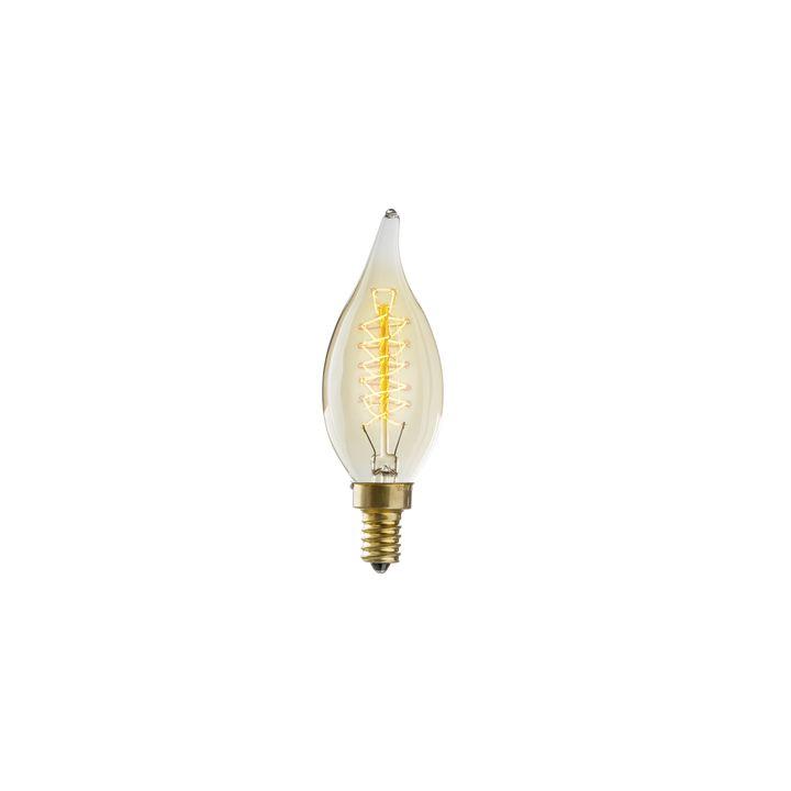 Greenpoint C10 Flame Tip Vintage Candelabra Bulb (E12), Single
