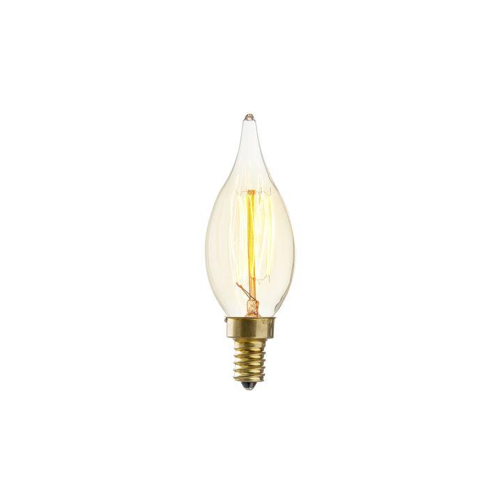 Classon C10 Flame Tip Vintage Candelabra Bulb (E12), Single