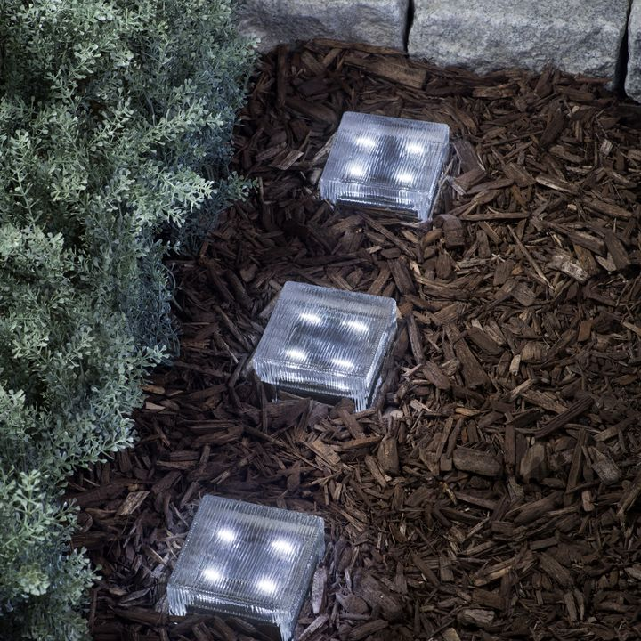Solar landscape lights outdoor lighting lights lined 4x4 solar brick light cool white workwithnaturefo