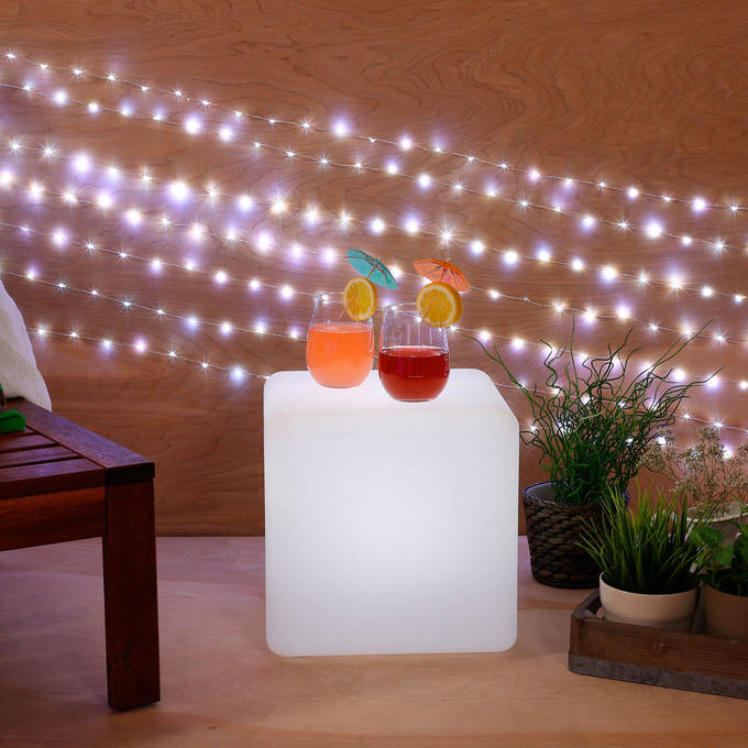 Color Changing LED Cube with Remote, Small