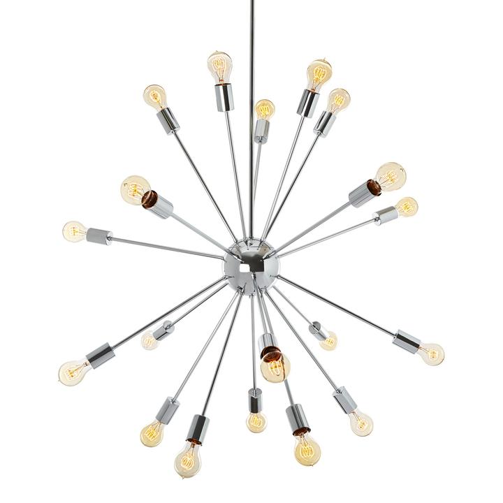 Sputnik 20-Light Chandelier, Chrome
