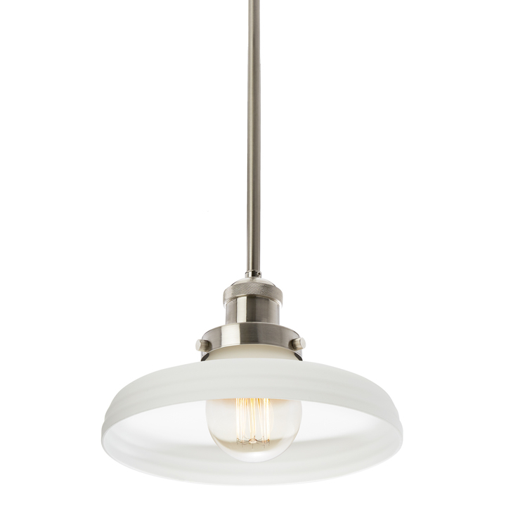 Clermont Pendant with Vintage White Glass