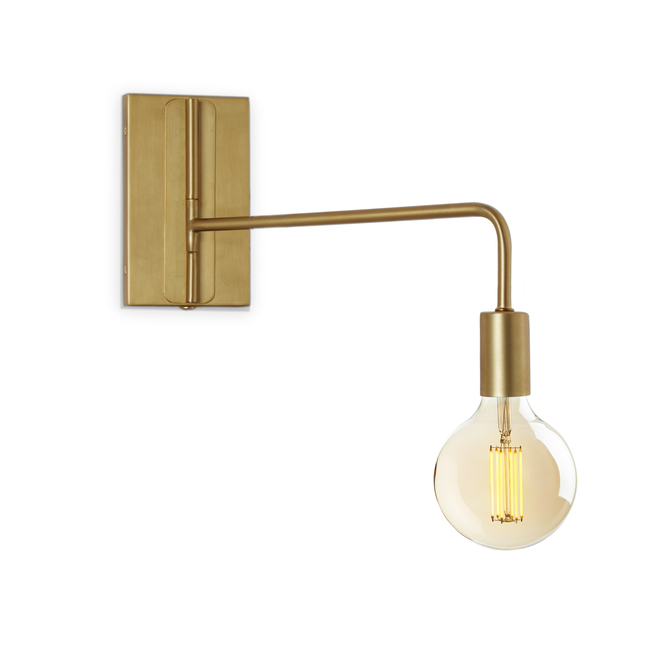 Hoyt Swing Arm Wall Sconce, Aged Brass