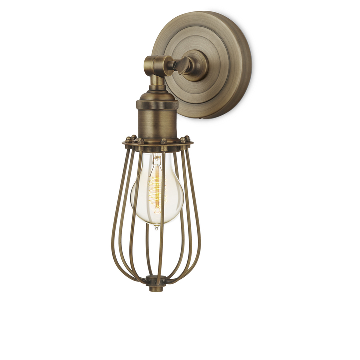 Clifton Wall Sconce with Raindrop Cage, Bronze