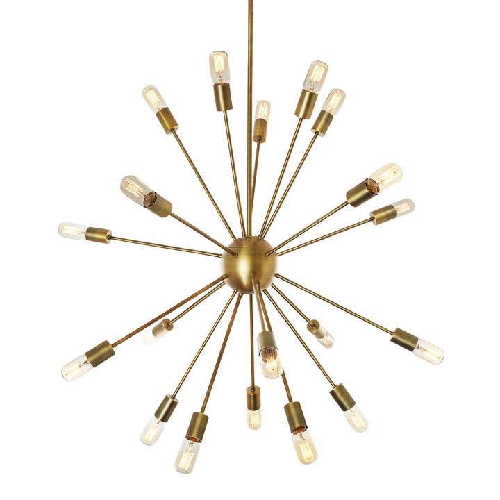 20-Light Sputnik, Aged Brass