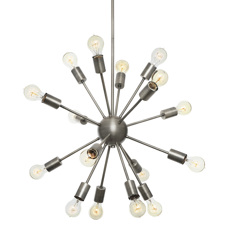 16-Light Sputnik Pendant in Pewter, Medium