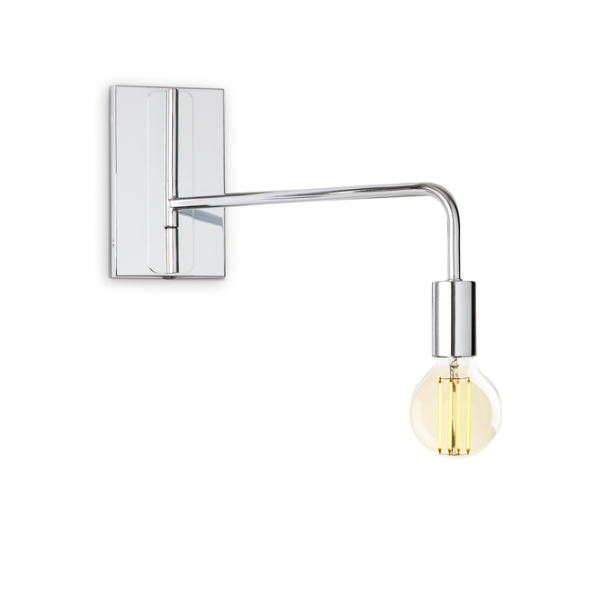 Prospect Swing Arm Wall Sconce, Chrome