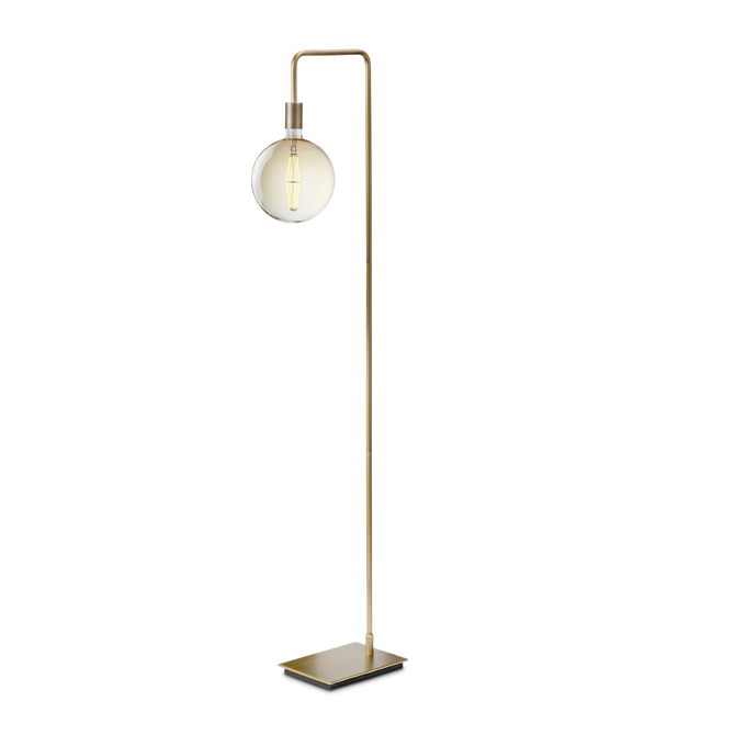Prospect Floor Lamp, Aged Brass