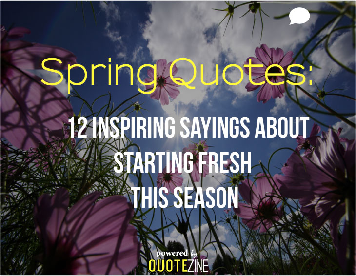 Spring Quotes 12 Inspiring Sayings About Starting Fresh This Season