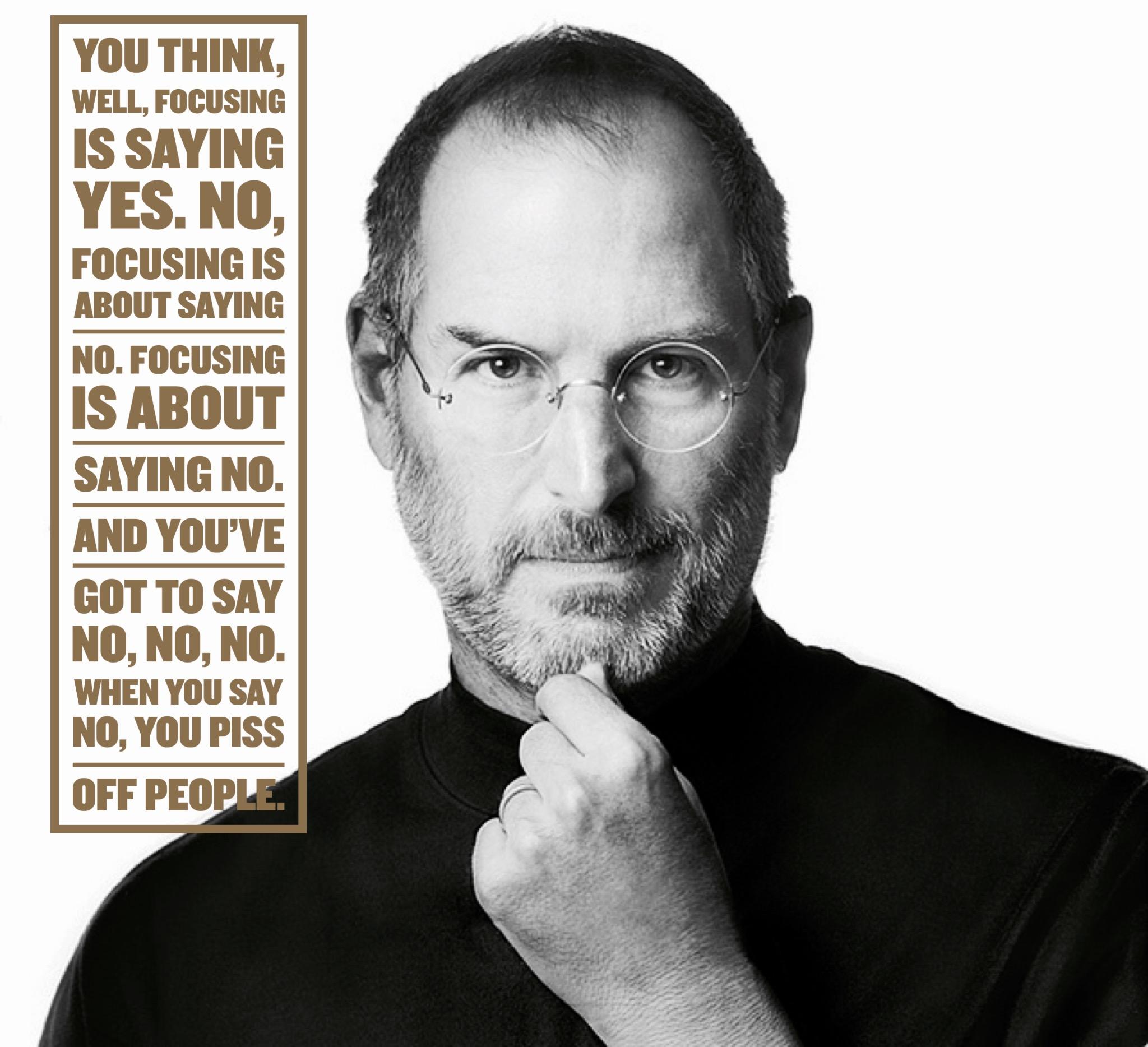 Steve Jobs Quote Focus