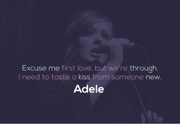 Adele love songs list
