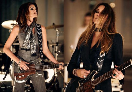 Cindy Crawford, baixo, Yasmin le Bon, guitarra