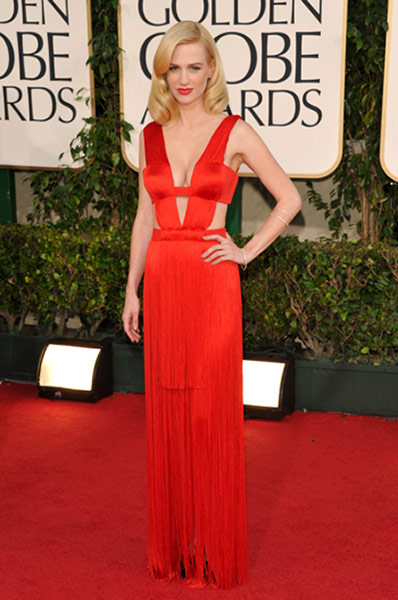 January Jones de Versace