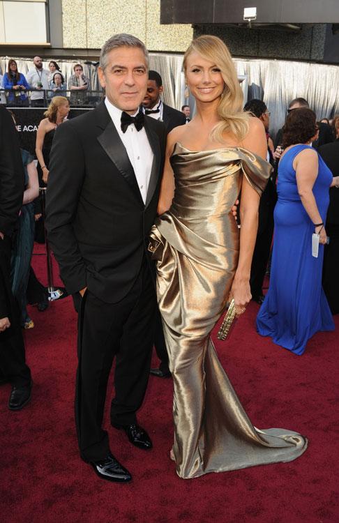 George Clooney de Giorgio Armani e Stacy Kiebler de Marchesa