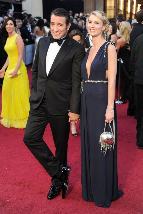 Jean Dujardin de Lanvin e sua mulher, Alexandra Lamy