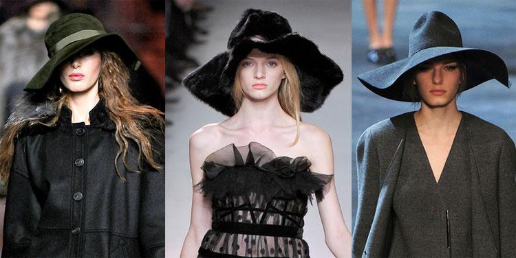 Chapéu, de preferência de abas largas: o mais teatral da Christian Dior, o peludo da Nina Ricci, o chic da Lanvin
