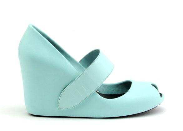 Azul peep toe
