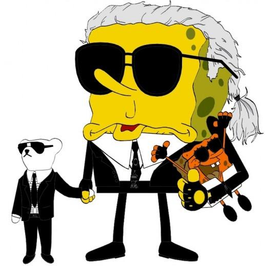 Karl Lagerfeld não aposenta os óculos nem em desenho!