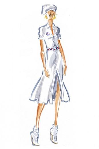 Look feminino, com inspiração navy