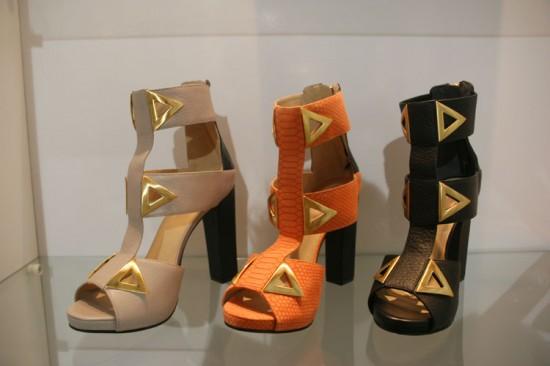 Uma das inspirações da coleção são os triângulos