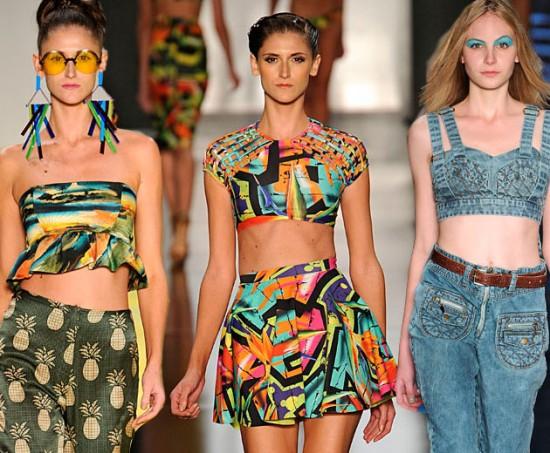 Salinas, Lenny, Coca-Cola Clothing: várias versões da barriga de fora no Fashion Rio
