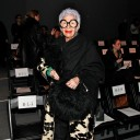 Iris Apfel na última Semana de Moda de NY