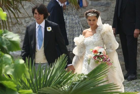 Margherita e o noivo, o piloto de corrida Eugenio Amos