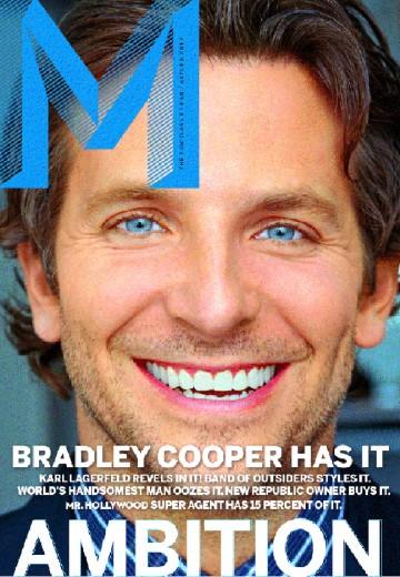 """""""M Magazine"""": Bradley Cooper na capa e recheio de Karl Lagerfeld"""