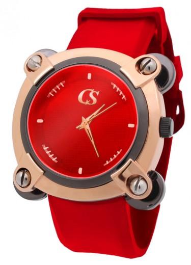 Modelo com ouro rosê e vermelho, bem chamativo!