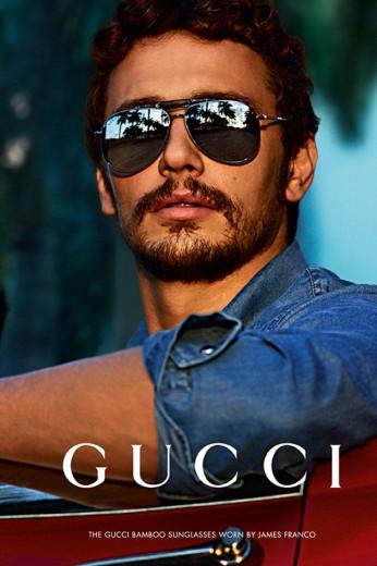 """O ator estrela a campanha do novo modelo de óculos da marca, o aviador """"Black Bamboo"""""""