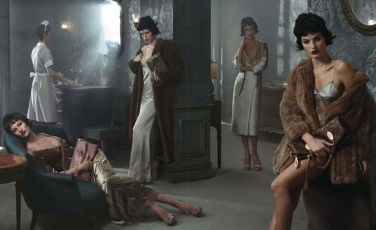 Gisele Bündchen, Carolyn Murphy, Karen Elson e Isabeli Fontana estrelam os anúncios de outono-inverno 2013/14 da grife