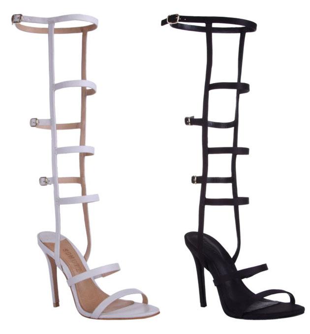 001b1a385b Pro verão  gladiadora até os joelhos! - Lilian Pacce