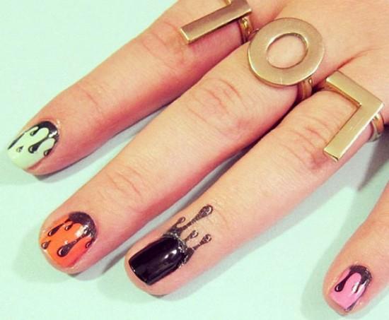 A RAD Nails tem quatro adesivos diferentes pras cutículas!