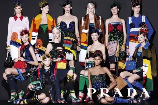 Campanha de primavera-verão 2014 da Prada clicada por Steven Meisel e recheada de new faces