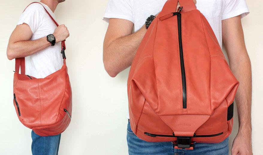 Bolsa De Couro Que Vira Mochila : Mil utilidades nas bolsas da art?ria lilian pacce
