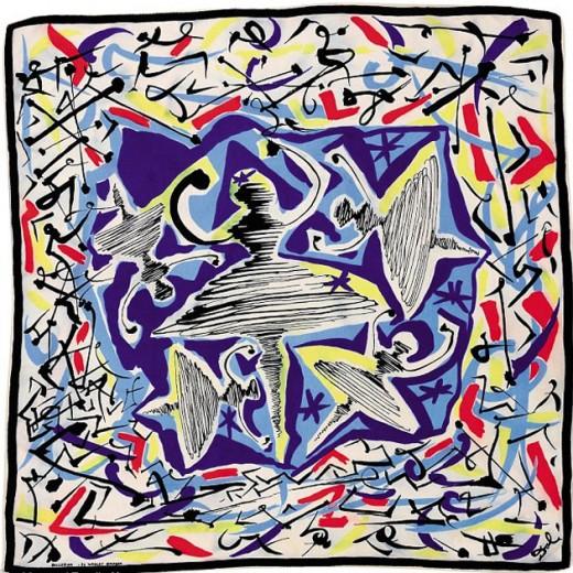 "Lenço de seda ""Ballerina"" desenhado por Salvador Dali"