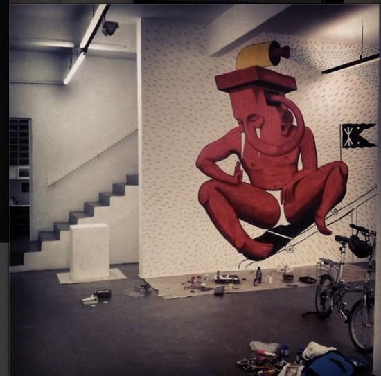 Uma parede da exposição. Gostou?