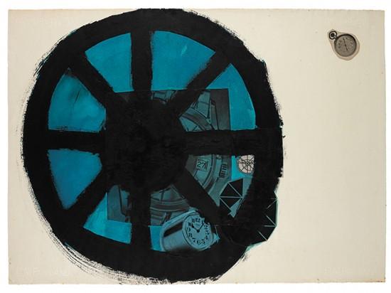 Obra sem título de 1964: aquarela, colagem e nanquim sobre papel