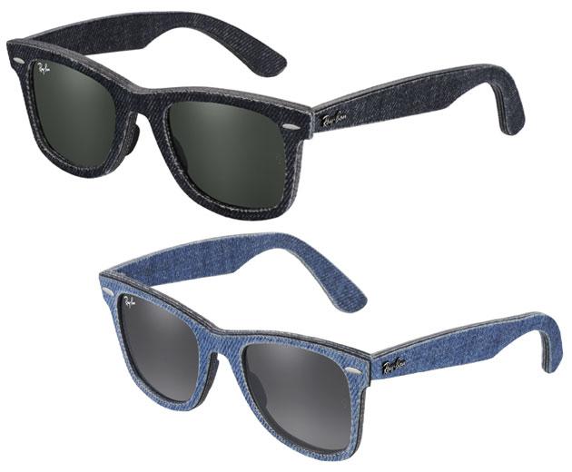 Novidade  óculos de sol com armação em jeans e flanela c5bca35615
