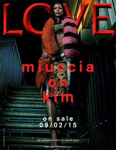 """Kim Kardashian é a estrela da revista """"Love"""", vestindo Prada! Clica!"""